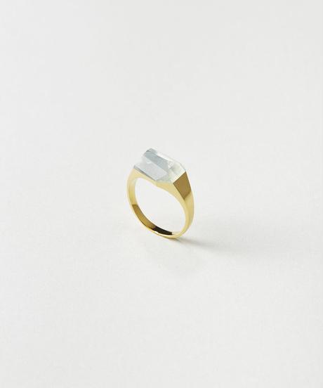 Aquamarine mini Rock Ring /Crystal