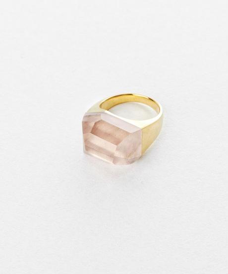 Rose Quartz Rock Ring  /Crystal