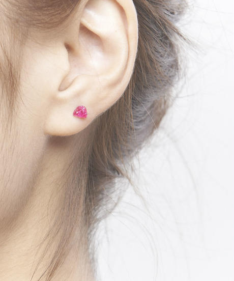 Ruby Rock Earring