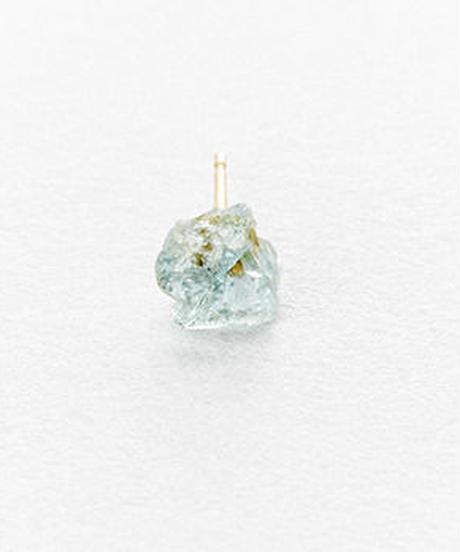 Aquamarine Rock Earring