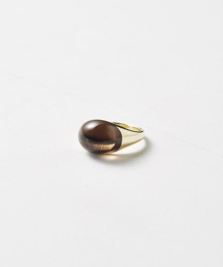 Smoky Quartz  mini Rock Ring /Round