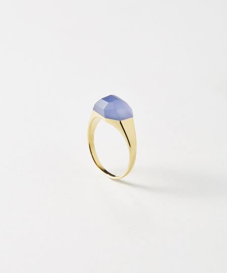 Blue Chalcedony Mini Rock Ring /Crystal