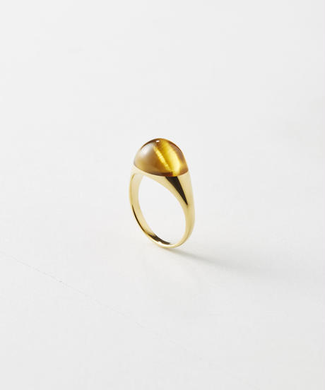 Citrine  mini Rock Ring /Round