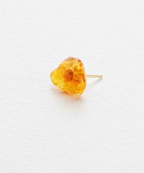 Fire Opal Pierced Earring