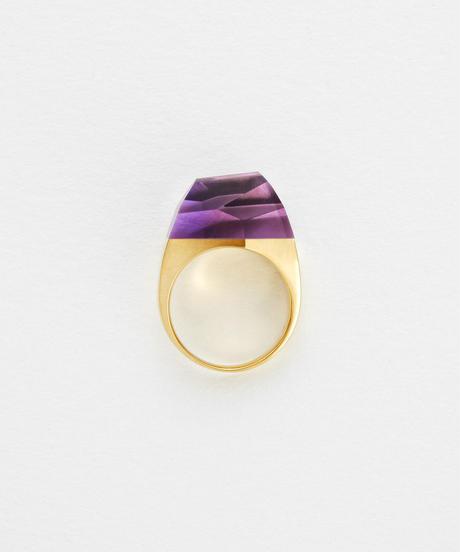 Amethyst Rock Ring /Crystal