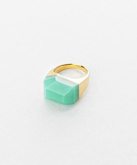 Chrysoprase  Rock Ring /Crystal