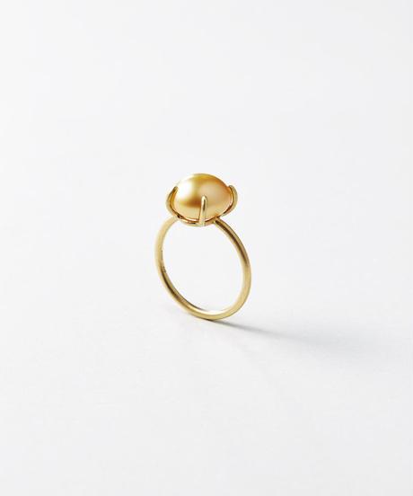 Golden South Sea Keshi Pearl Gem Ring