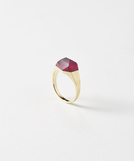 Rubelite Mini Rock Ring/ Crystal/ Limited collection