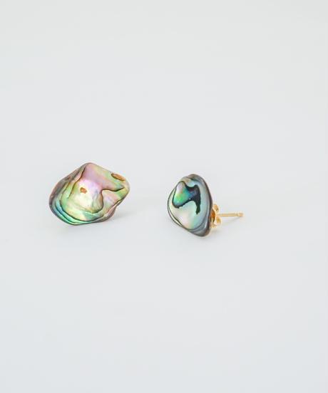 Abalone Shell Rock Pierced Earring