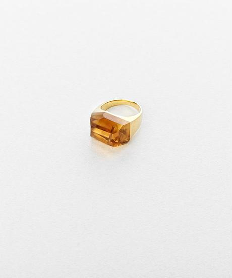 Citrine Rock Ring / Crystal