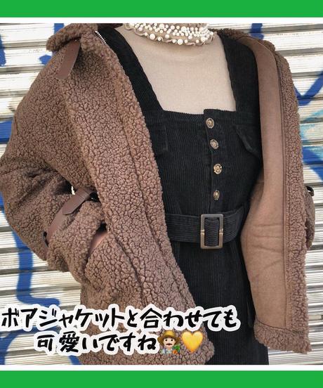 【SALE】 あったかサロペットスカート (NO.7760)