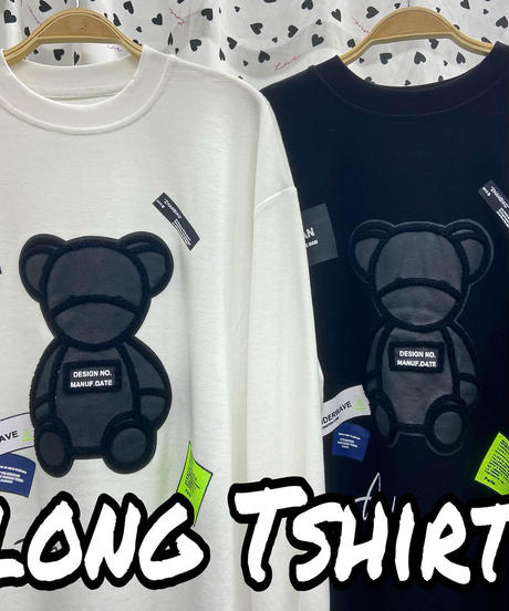 【SALE】sticker and bare / long Tshirt🧸(NO.8081)