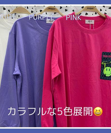 """""""😋ニコちゃんと安全ピンのワンポイントロンT😋"""" (NO.8118)"""