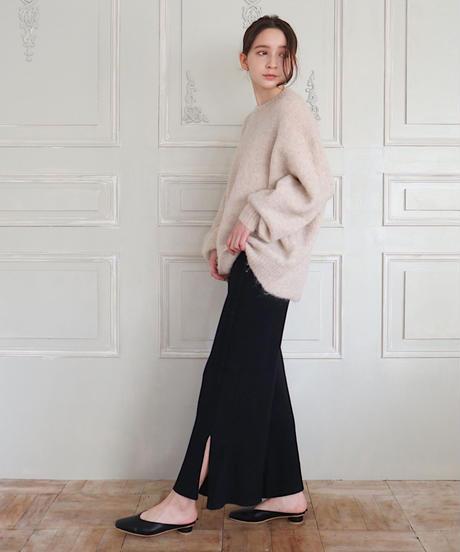 slit knit pants