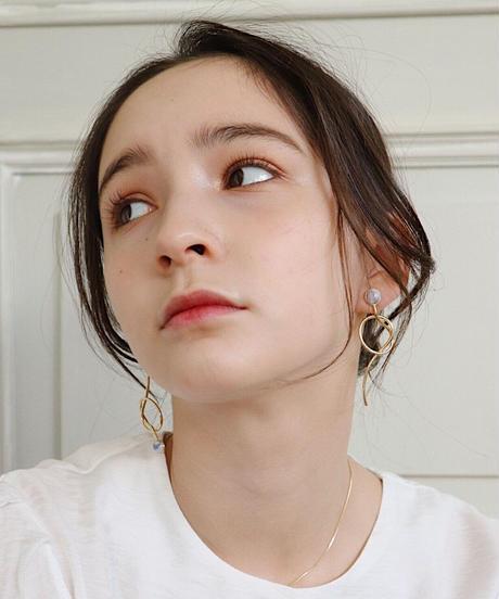 Midi marble pierce/earring