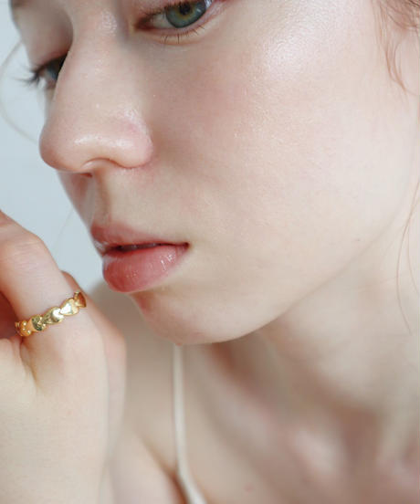 silver mini heart ring
