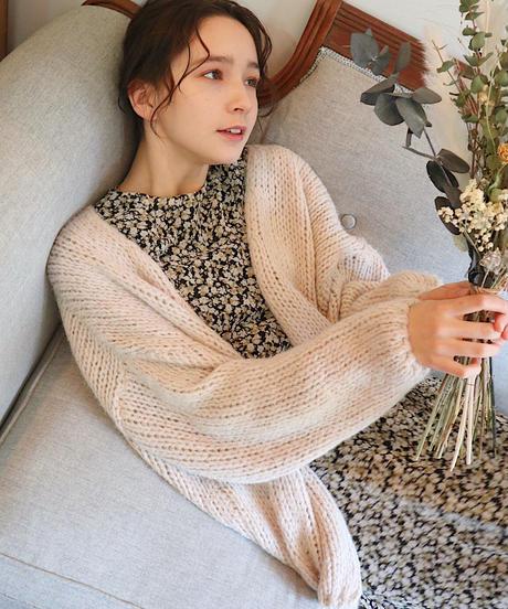 yarn knit cardigan