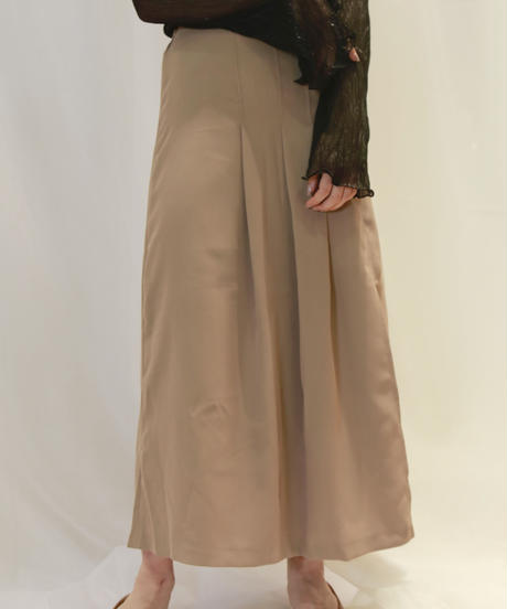 rough pleats skirt