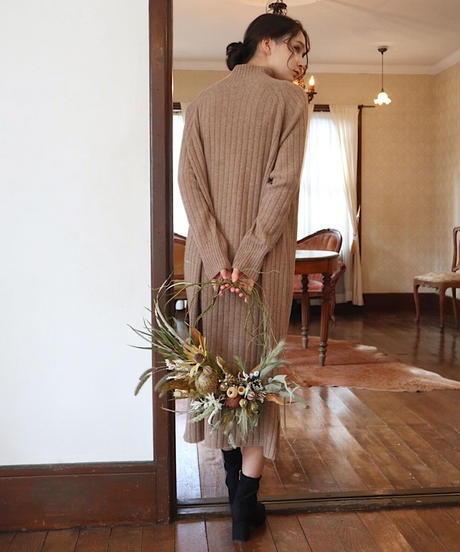 modern knit one-piece