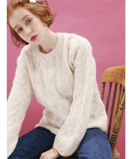 sheep cable knit