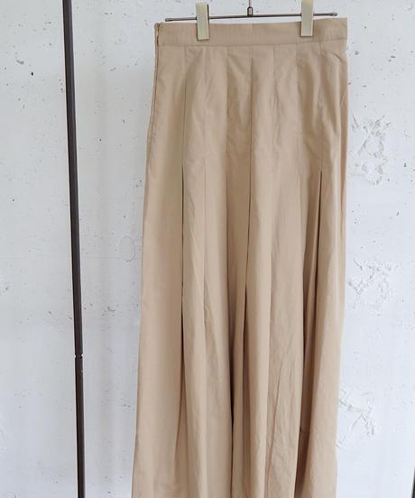 flare pleats skirt