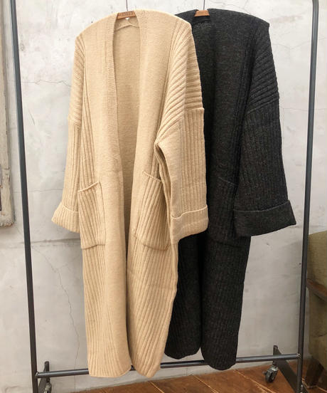 volume knit cardigan