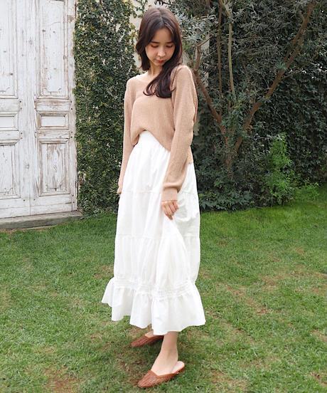 cotton flare skirt