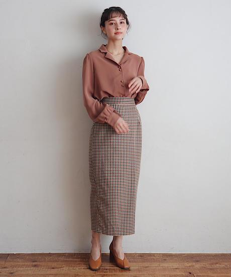 lou check  skirt