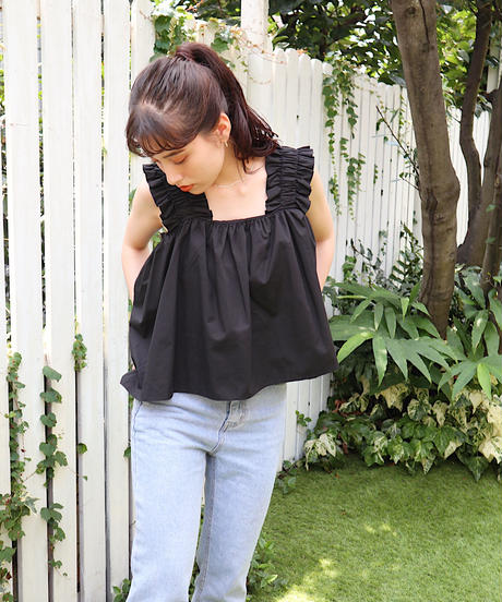 frill flare blouse