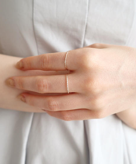 silver twin ring