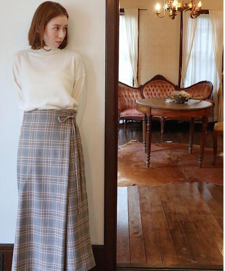 wrap check skirt