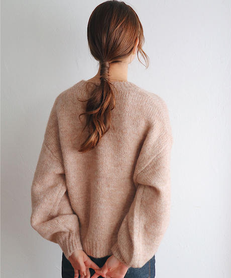 pale knit cardigan