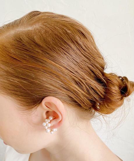ear cuff -twin pearl-