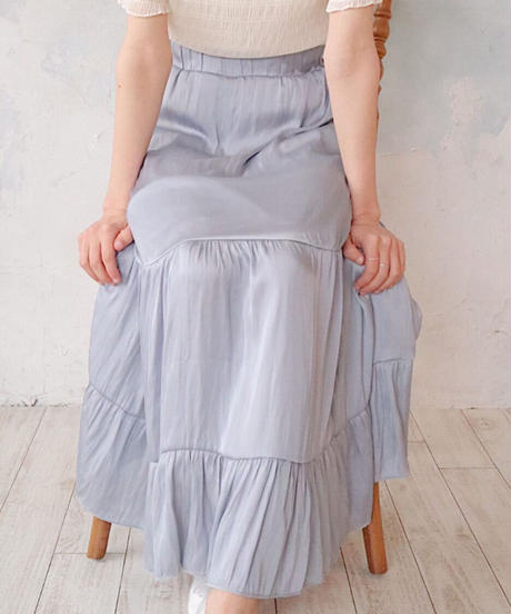 tiered satin sk