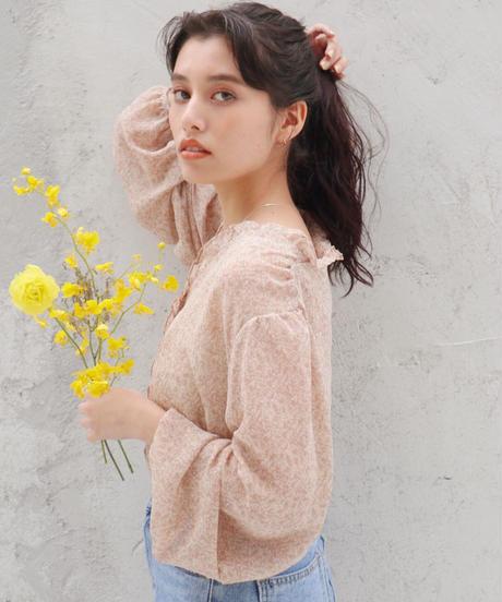 flower frill  blouse