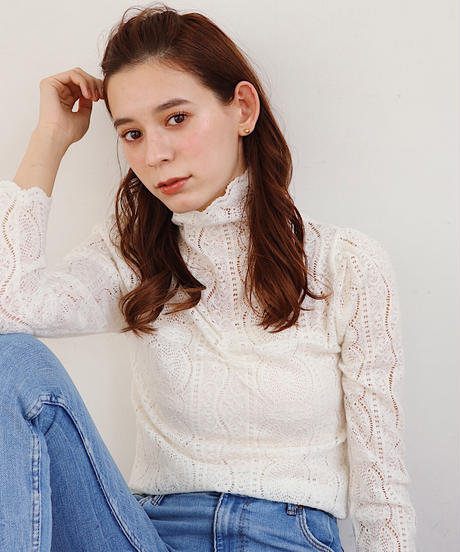 scallop lace tops