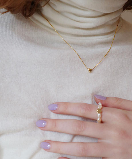 heart pearl ring