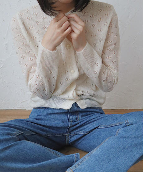 fluff lace cardigan
