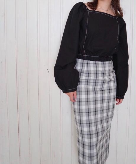 automne check skirt