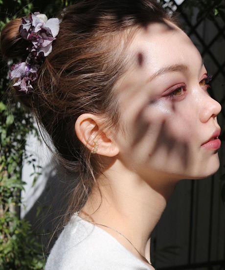 ear cuff -pearl&flower-