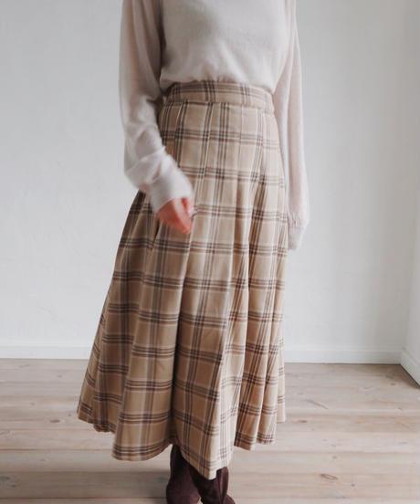flare check skirt