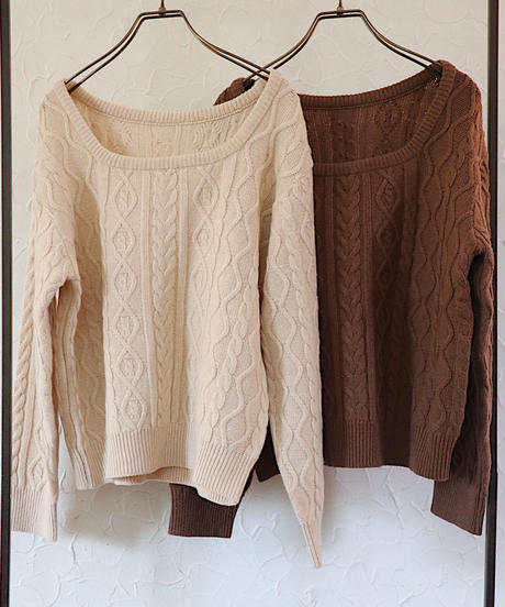 2way cable knit