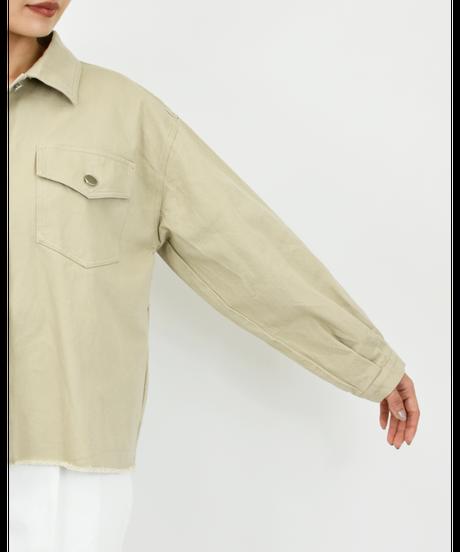 カツラギ BIGシルエットジャケット beige [204FB021-15]