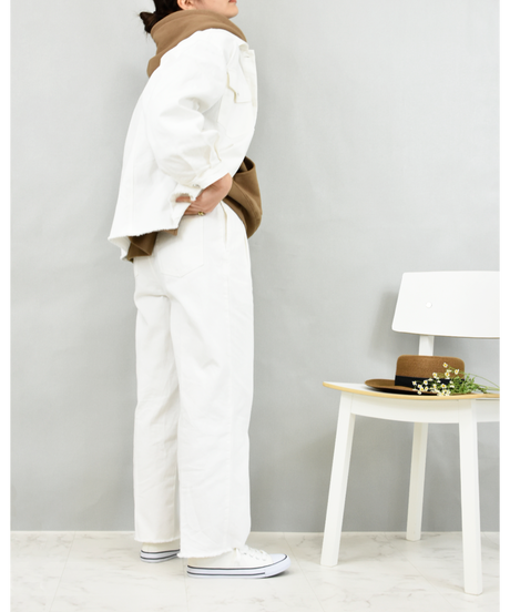 カツラギ BIGシルエットジャケット off white [204FB021-02]