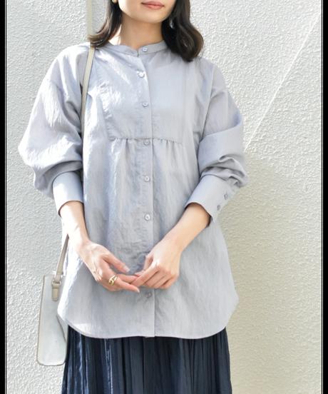 ブザム切替ロングシャツ blue gray [211FB002-75]