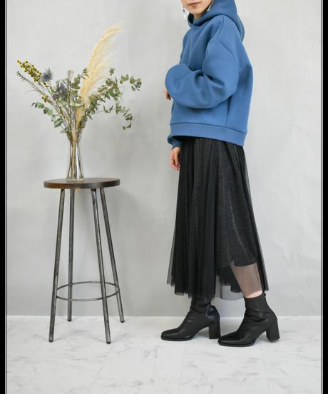 ラメチュール切替スカート black [193CB014-99]
