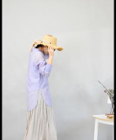 キャミSET ワッシャー シアーチュニック lavender [204FB005-83]