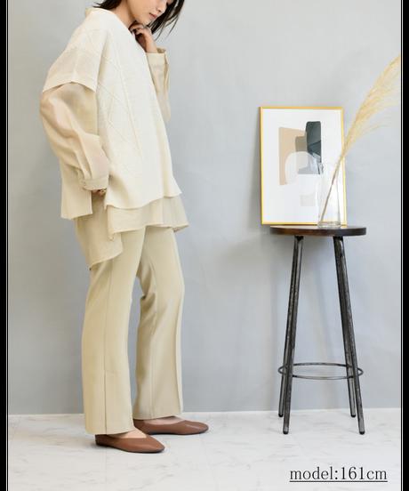 ダブルポケット ワッシャーシアーシャツ light beige [204FB006-12]
