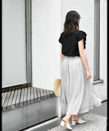 箔プリントシアー スカート [212FB027]