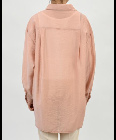 ダブルポケット ワッシャーシアーシャツ coral pink [204FB006-43]